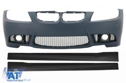 Bara Fata si Praguri laterale compatibil cu BMW Seria 3 E90 Sedan E91 Touring (2005-2008) (Non LCI) M3 Design fara Proiectoare - COFBBME90M3PWFSS