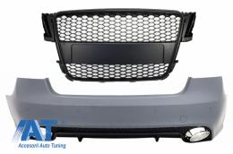 Bara Spate compatibil cu AUDI A5 S5 8T (2007-2011) Sportback RS5 Design cu Grila Centrala Negru Mat - CORBAUA58TF