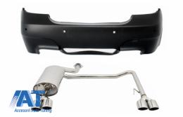 Bara Spate compatibil cu BMW Seria 5 E60 (2003-2007) cu Tobe Sistem de Evacuare Completa Dubla M5 Design cu PDC