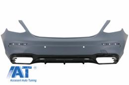 Bara Spate compatibil cu Mercedes E-Class W213 (2016-up) E63 Design Editie Negru Lucios - RBMBW213AMG