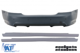 Bara Spate compatibil cu MERCEDES S-Class W221 (2005-2010) S65 Design cu Praguri Laterale Versiunea Scurta - CORBMBW221S