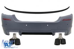 Bara Spate cu Eleron Portbagaj si Tobe Ornamente Sistem Evacuare Carbon compatibil cu BMW Seria 5 F10 (2011-2017) M5 Design - CORBBMF10M5TSGJET