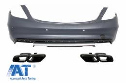 Bara Spate cu Oranamente Tobe compatibil cu Sistemul de Evacuare Mercedes Benz W222 Clasa S (2013+) S65 AMG Design