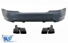 Bara Spate cu Ornamente Evacuare Toba Negre compatibil cu MERCEDES S-Class W221 (2005-2010) S65 Design - CORBMBW221TYNB