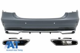 Bara Spate cu Ornamente Tobe compatibil cu MERCEDES E-Class W212 Facelift (2013-up) E63 Design - CORBMBW212FAMGWOL