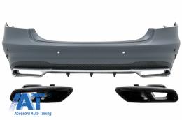 Bara Spate cu Ornamente Tobe Sistemul de Evacuare compatibil cu MERCEDES E-Class W212 Facelift (2013-2016) E63 Design - CORBMBW212FAMGS65W222B