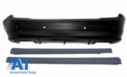 Bara Spate cu Praguri compatibil cu MERCEDES C-Class W204 2007-2012 A-Design - CORBMBW204AMGSS