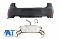 Bara Spate cu Sistem de Evacuare compatibil cu VW Golf 7 VII MK7 (2013-2017) R Design - COESVWG7RBFRB