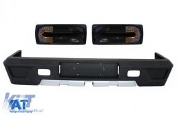 Bara Spate cu Stopuri Negru Fumuriu compatibil cu MERCEDES W463 G-Class (1989-2017) G63 G65 Design - CORBMBW463AMGRCOEMB