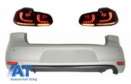 Bara Spate si Stopuri FULL LED compatibil cu VW Golf 6 VI (2008-2012) GTI Look - CORBVWG6GTIRCFW