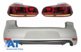 Bara Spate si Stopuri FULL LED cu Semnal Dinamic compatibil cu VW Golf 6 VI (2008-2012) GTI Look - CORBVWG6GTIRSFW