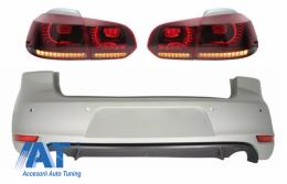 Bara Spate si Stopuri FULL LED Rosu Fumuriu compatibil cu VW Golf 6 VI (2008-2012) GTI Look - CORBVWG6GTITLRS