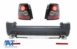 Bara Spate si Stopuri LED compatibil cu Land Range Rover Sport L320 (2005-2013) Facelift Autobiography Design - CORBRRSL320FRB