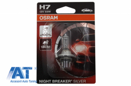 Bec Auto Halogen Osram NIGHT BREAKER SILVER 64210NBS-01B H7 12V 55W Blister (1 unit) - 64210NBS-01B