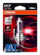 Bec Auto Halogen pentru far Osram SILVERSTAR 2.0 64210SV2 H7 12V 55W - 64210SV2-01B