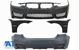 Body Kit Bara Fata Bara Spate Aripi Laterale compatibil cu BMW seria 3 F30 (2011-2015) F30 LCI (2016+) M3 Sport Design - COFBBMF30M3DWFRFF