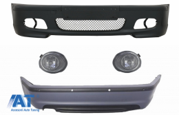 Body Kit Bara fata Bara spate cu PDC compatibil cu BMW Seria 3 E46 4D (1998-2004) + Proiectoare M-technik Design - COFBBME46MT4DPDC03