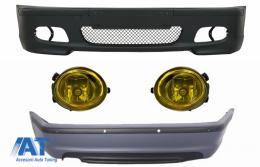 Body Kit Bara fata Bara spate cu PDC compatibil cu BMW Seria 3 E46 4D + Proiectoare cu Bec Halogen 9005 M-technik Design - COFBBME46MT4DPDC03Y