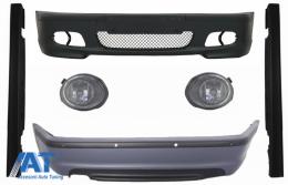 Body Kit Bara fata Bara spate cu PDC compatibil cu BMW Seria 3 E46 4D Praguri Laterale + Proiectoare M-technik Design - COCBBME46MT4DSS03