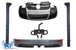 Body Kit compatibil cu VW Golf V Golf 5 (2003-2007) cu Praguri Laterale si Sistem De Evacuare R32 Look - COCBVWG5R32ESGTI