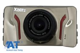 Camera auto DVR Xblitz Ghost, Full HD, Unghi Vizionare 120 Grade, Gri - XBGHOST