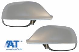 Capace Oglinzi Aluminiu Mat compatibil cu AUDI Q5 / SQ5 8R (11/2008-2016) Q7 / SQ7 4L facelift (06/2009-08/2015) - MCAUQ58R/34206