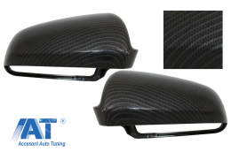 Capace oglinzi compatibil cu AUDI S3 A3 (8P), S4 A4 (B6, B7), S6 A6 (4F) Carbon Design - MCAUA6EXC
