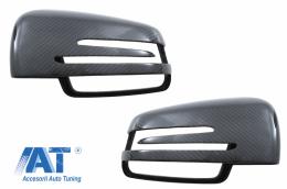 Capace oglinzi compatibil cu MERCEDES W117 W176 W204 W205 W212 W213 W218 W246 X156 X204 W463 GLK Carbon Real - 89715CFR