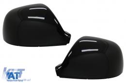 Capace Oglinzi compatibil cu VW Amarok (2010-2020) Transporter Multivan T5 Facelift (2010-2015) Transporter T6 (2016-2018) Negru Lucios - MCVWAMK