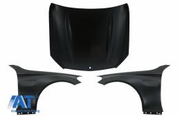 Capota compatibila si Aripi Laterale cu Mercedes C-Class W205 S205 C205 A205 (2014-2020) C63 Design - COHDMBW205C63FF