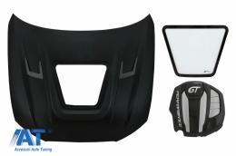 Capota Otel Inoxidabil cu Capac Motor compatibil cu Audi A6 C7 4G (2012-2018) GT Design - HDAUA64G