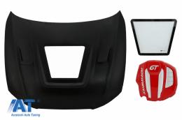 Capota Otel Inoxidabil cu cu Capac Motor compatibila cu Audi A5 B8.5 (2012-2016) GT Design - HDAUA58TF