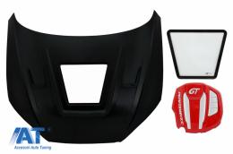 Capota Otel Inoxidabil cu cu Capac Motor compatibil cu Audi A5 F5 B9 (2015-2019) GT Design - HDAUA5F5