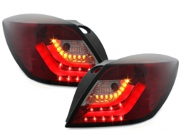 carDNA Stopuri LED compatibil cu OPEL Astra H GTC LIGHTBAR Rosu/Fumuriu- - RO27SLRS