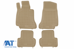 Covorase Presuri Auto Bej din Cauciuc compatibil cu MERCEDES C-class W205 2014 - - 201720B