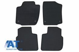 Covorase Presuri Auto Negru din Cauciuc SEAT Toledo (2013-2018) compatibil cu SKODA Rapid (2012-) compatibil cu SKODA Rapid Spaceback - 20910