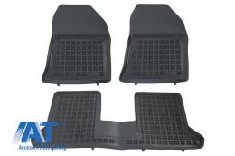 Covorase Presuri Auto Negru din Cauciuc compatibil cu DACIA Dokker 2012-  - 203405