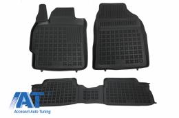 Covorase Presuri Auto Negru din Cauciuc compatibil cu TOYOTA Auris 02/2007-2012, Corolla 10/2006-2013 - 201401