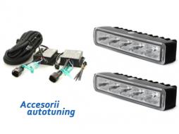 daytime running lamps 5 HIPOWER LED 110x25x30mm_chrome - LGX23