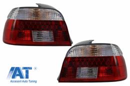 DECTANE Stopuri LED compatibil cu BMW 5 Series E39 1995-2003 Rosu/Cristal - TLBME39RC/1223495