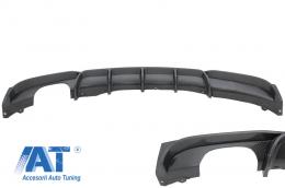 Difuzor Bara Spate Carbon Evacuare Stanga compatibil cu BMW Seria 3 F30 F31 (2011-up) M Performance Design - RDBMF30MPLOCF