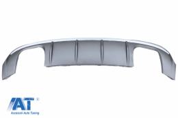 Difuzor Bara Spate compatibil cu AUDI A3 8V Facelift Sedan Convertible (2016-2019) S3 Design Bara S Line - RDAUA38VFSS
