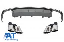 Difuzor Bara Spate compatibil cu Audi A6 4G Facelift (2015-2018) si Tobe Ornament S6 Design - CORDAUA64GFS6