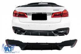 Difuzor Bara Spate compatibil cu BMW Seria 5 G30 G31 (2017+) M5 Design Negru Lucios