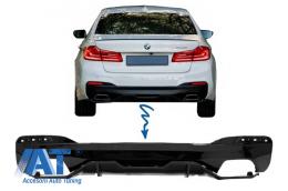 Difuzor Bara Spate compatibil cu BMW Seria 5 G30 G31 (2017+) M Performance Design Negru Lucios - RDBMG30MPDOPB