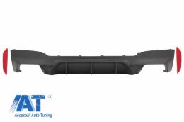 Difuzor Bara Spate compatibil cu BMW Seria 5 G30 G31 (2017+) M5 Design Negru Mat - RDBMG30M5B