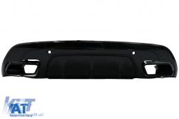 Difuzor Bara Spate compatibil cu Land Range Rover Velar SUV L560 (2017-up) Dynamic Look Negru Lucios - RDRRVL560PB
