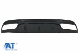 Difuzor Bara Spate compatibil cu MERCEDES C-Class W205 S205 (2014-2020) C63 Design doar pentru Sport Package Negru - RDMBW205AMGB