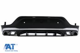 Difuzor Bara Spate compatibil cu Mercedes GLC Coupe Facelift C253 (2020-) GLC63 Design Evacuari Crom - RDMBGLCC253F
