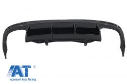 Difuzor Bara Spate compatibil cu VW Passat CC (2012-2017) R Line Dubla Evacuare - RDVWPACCRL